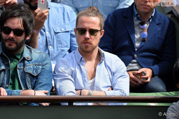 Julien Doré à Roland Garros, le 29 mai 2015