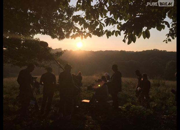 Hunger Games 4 : photo du tournage de l'épilogue postée le 5 juin 2015 sur Twitter par la productrice Nina Jacobson