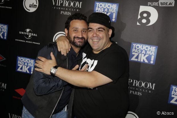 Touche pas à ma zik : Cyril Hanouna et Tefa au VIP Room à Paris le 13 juin 2015 pour la sortie de l'album