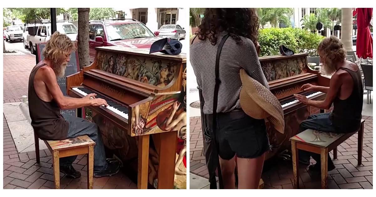 Ce sdf qui joue du piano dans la rue de sa ville a - Un piano dans la theiere ...