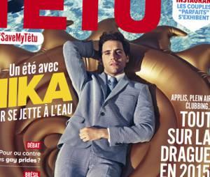 Mika en Une du magazine Têtu, numéro de juillet-août 2015