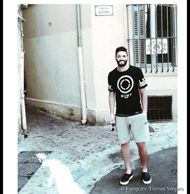 Thomas Vergara dévole sa nouvelle coupe de cheveux sur Instagram, le 9 juillet 2015