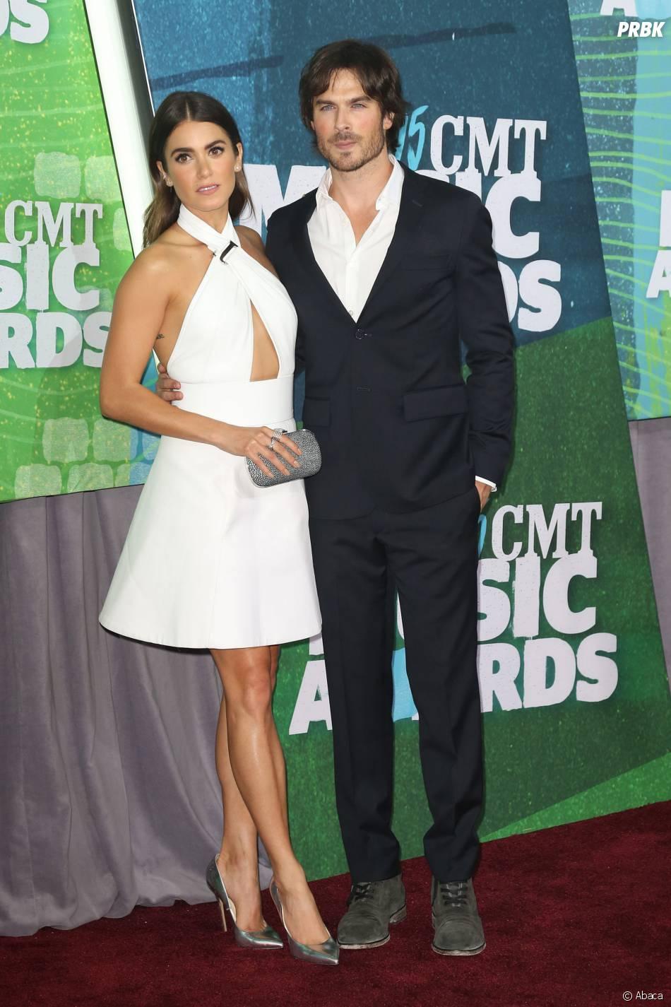 Ian Somerhalder et Nikki Reed sur le tapis rouge des CMT Music Awards, le 10 juin 2015 à Nashville