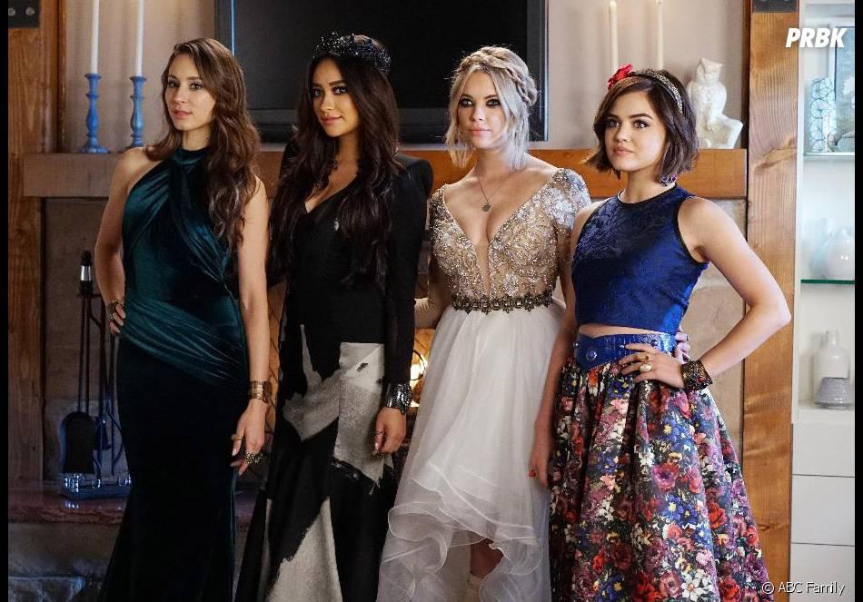 Pretty Little Liars saison 6 : Spencer, Emily, Hanna et Aria au bal de promo