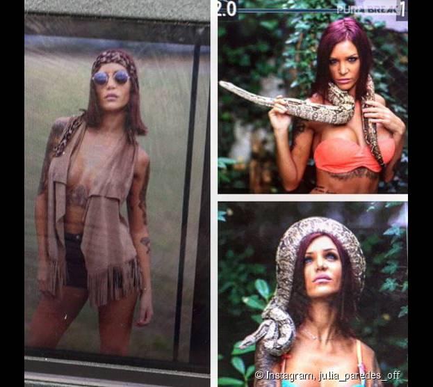 Julia Paredes (Les Anges 7) dévoile les coulisses d'un shooting sexy sur Instagram et Snapchat