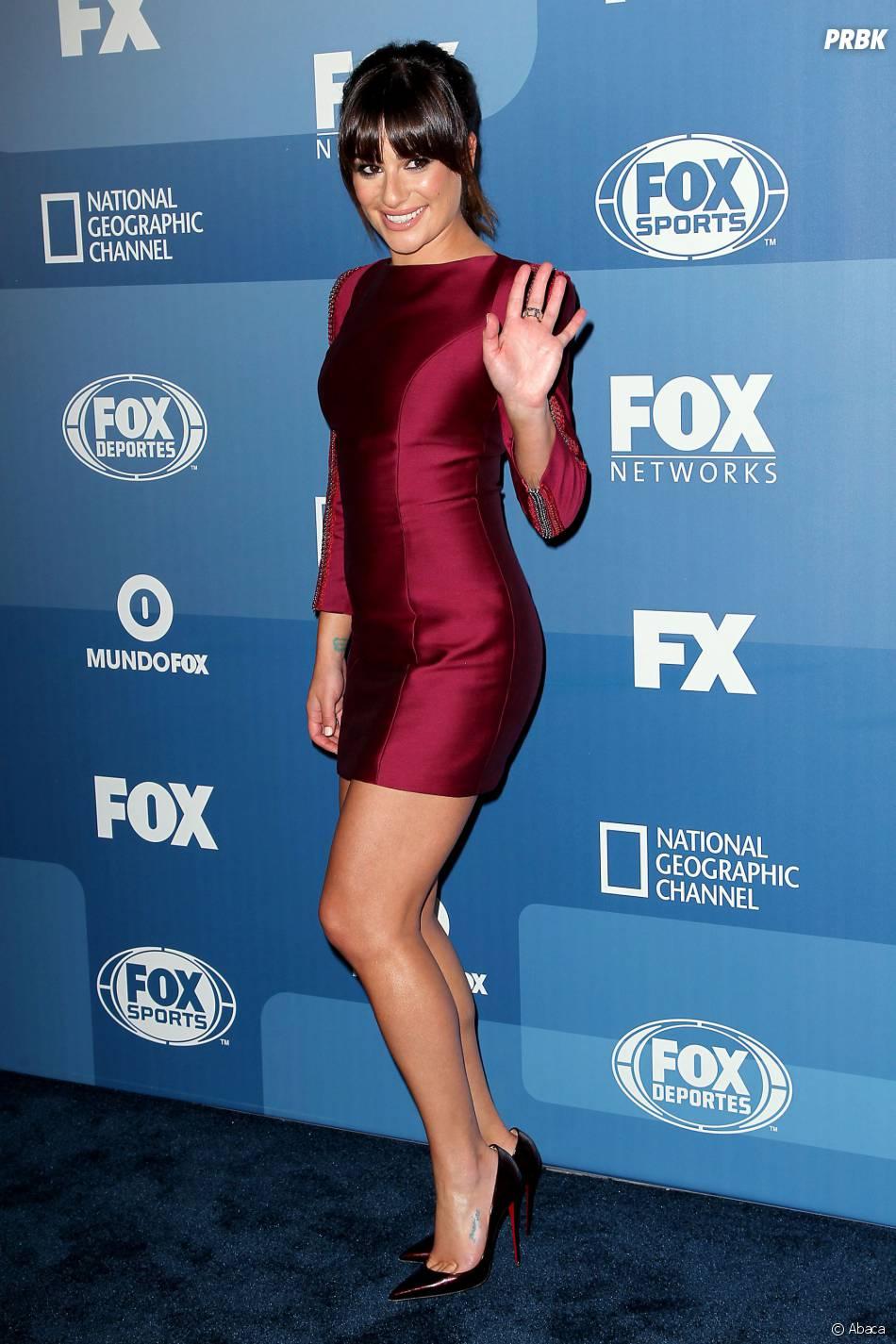 Lea Michele sexy pour présenter Scream Queens, le 11 mai 2015 à New York