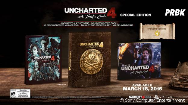 "Uncharted 4 : l'édition collector ""Special Edition"""