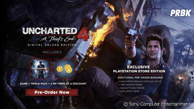 "Uncharted 4 : l'édition collector ""Digital Deluxe Edition"""