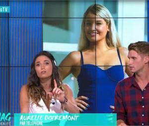 Aurélie Dotremont clashe Myriam Abel par téléphone dans Le Mag le 2 septembre 2015 sur NRJ 12