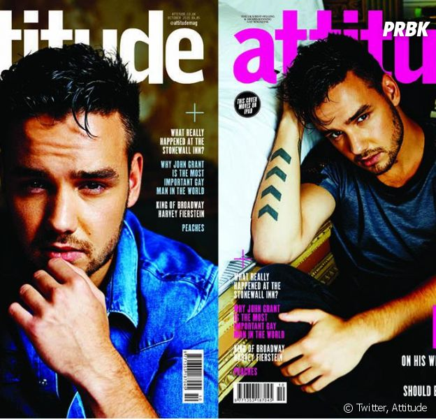 Liam Payne en couverture du magazine gay Attitude (octobre 2015)