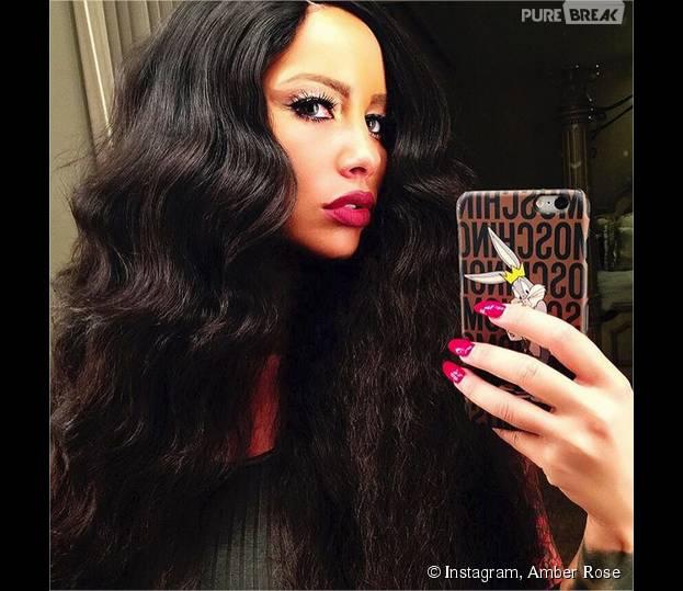 Amber Rose méconnaissable avec les cheveux longs sur Instagram