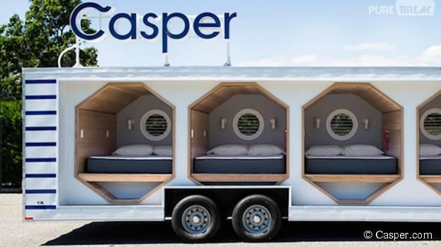 """Aux Etats-Unis, la marque Casper invente le """"camion à siestes"""""""