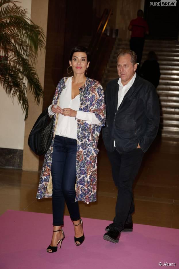 Cristina Cordula présente son chéri Frédéric Cassin lors du lancement d'Octobre Rose à Paris le 28 septembre 2015