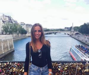 David Ginola : sa fille sur le pont des arts