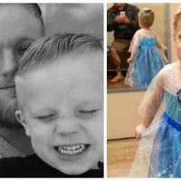 Ce garçon voulait se déguiser en Reine des Neiges pour Halloween, ce que son père a fait est génial