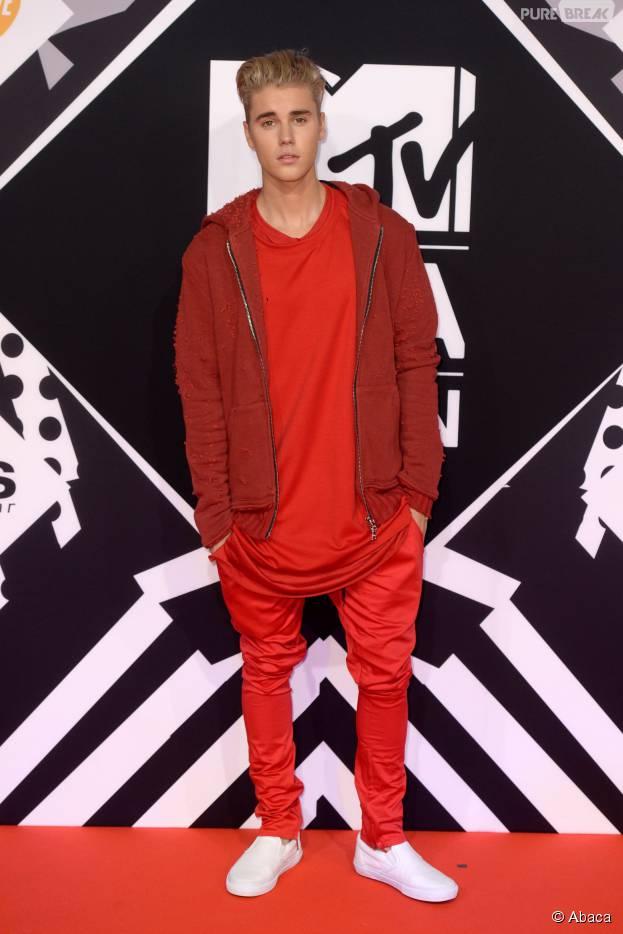 Justin Bieber aux MTV EMA 2015, le 25 octobre, à Milan