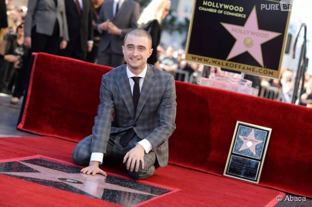 Daniel Radcliffe à l'inauguration de son étoile sur le Walk of Fame, le 12 novembre 2015