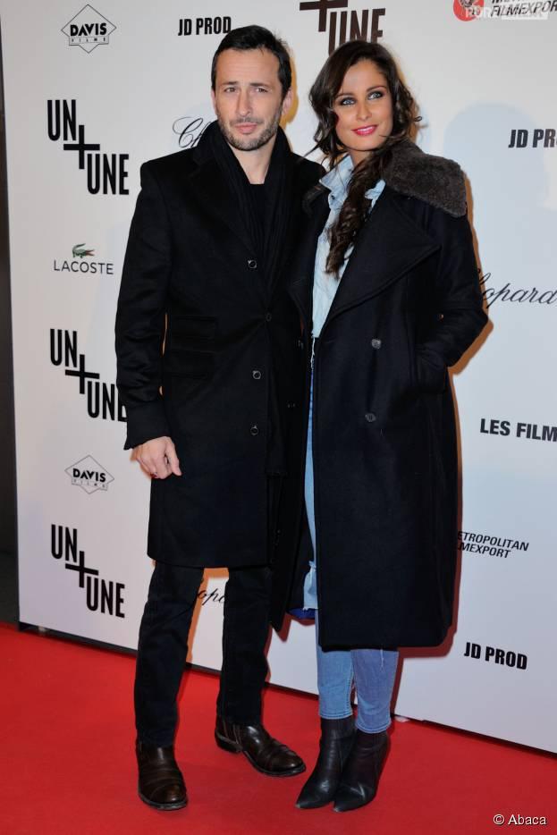Malika Ménard et son petit-ami Michaeël Cohen à l'avant-première du film Un + Une, le 23 novembre 2015
