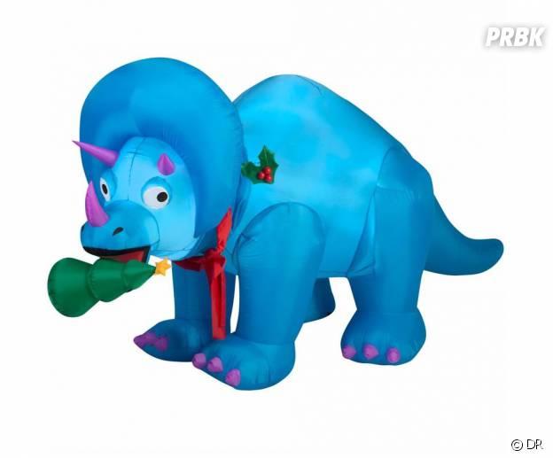 Un tricératops de Noël