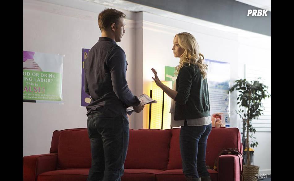 The Vampire Diaries saison 7, épisode 9 : Alaric (Matt Davis) et Caroline (Candice Accola)