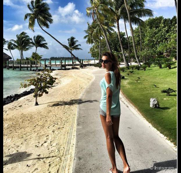 Marine Lorphelin sur une photo Instagram postée par son amoureux Christophe, le 6 décembre 2015