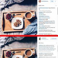 Caroline Receveur vole une photo sur Instagram puis ironise sur Twitter