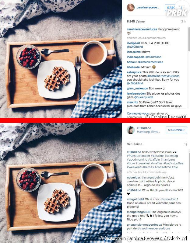 Caroline Receveur accusée de plagiat sur Instagram