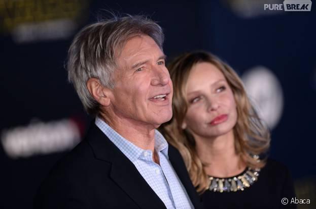 Harrison Ford et Calista Flockhart en couple à l'avant-première de Star Wars 7, le 14 décembre 2015 à Los Angeles