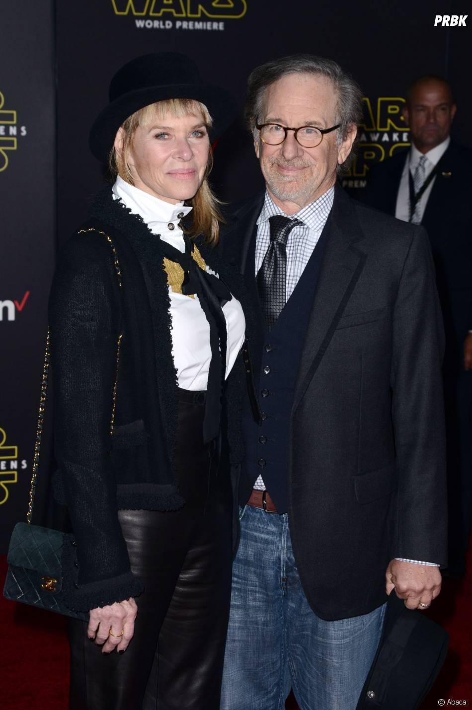 Steven Spielberg et sa femme à l'avant-première de Star Wars 7, le 14 décembre 2015 à Los Angeles