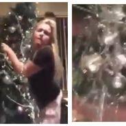 Epic FAIL : ivre, elle danse un slow avec son sapin de Noël... et ça finit mal !