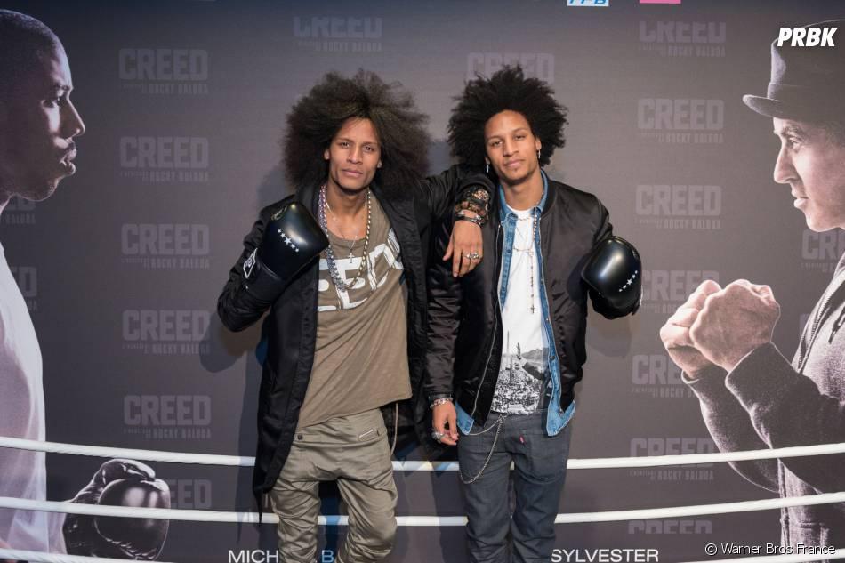 Les Twins à l'avant-première de Creed à Paris ce jeudi 7 janvier2016
