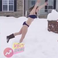 #SnowChallenge : pendant Snowzilla, les Américains plongent dans la neige... en maillot de bain !