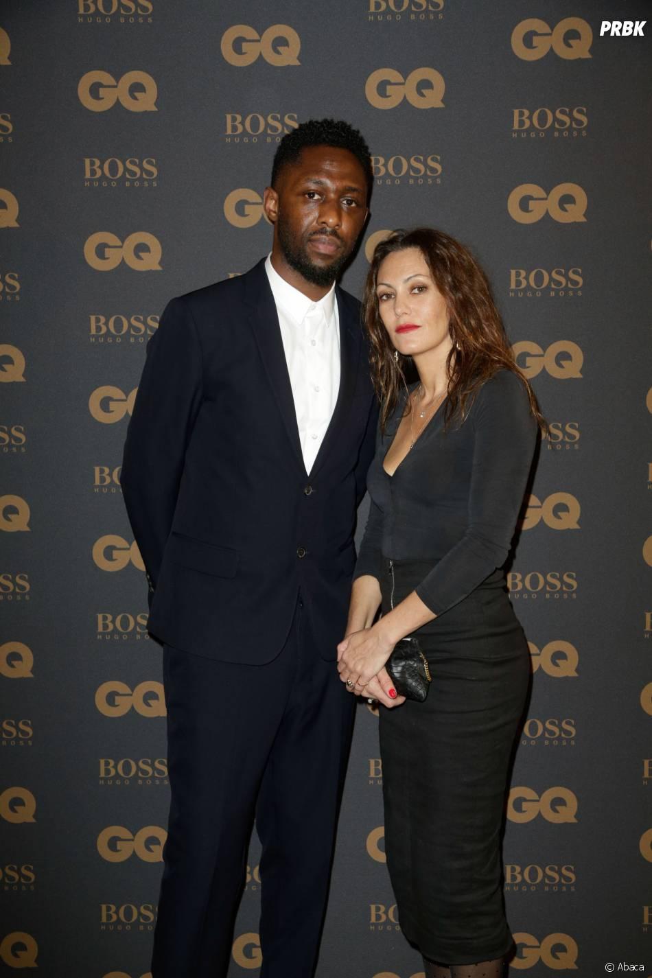Thomas Ngijol et sa femme aux GQ Awards à Paris le 25 janvier 2016