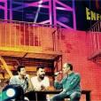 Pascal Obispo, Patrick Bruel, Michaël Youn et Jean-Jacques Goldman dans les coulisses des concerts des Enfoirés 2016