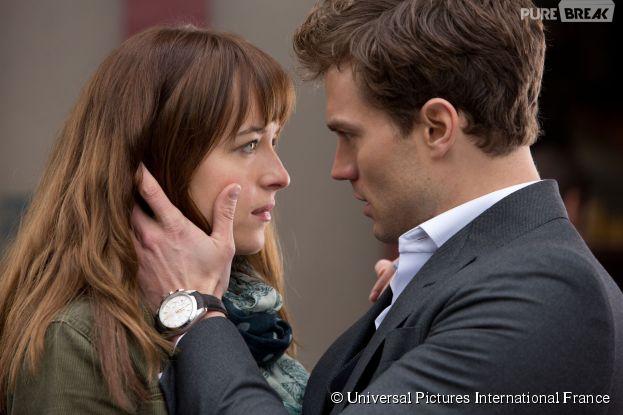 Jamie Dornan et Dakota Johnson dans Fifty Shades of Grey
