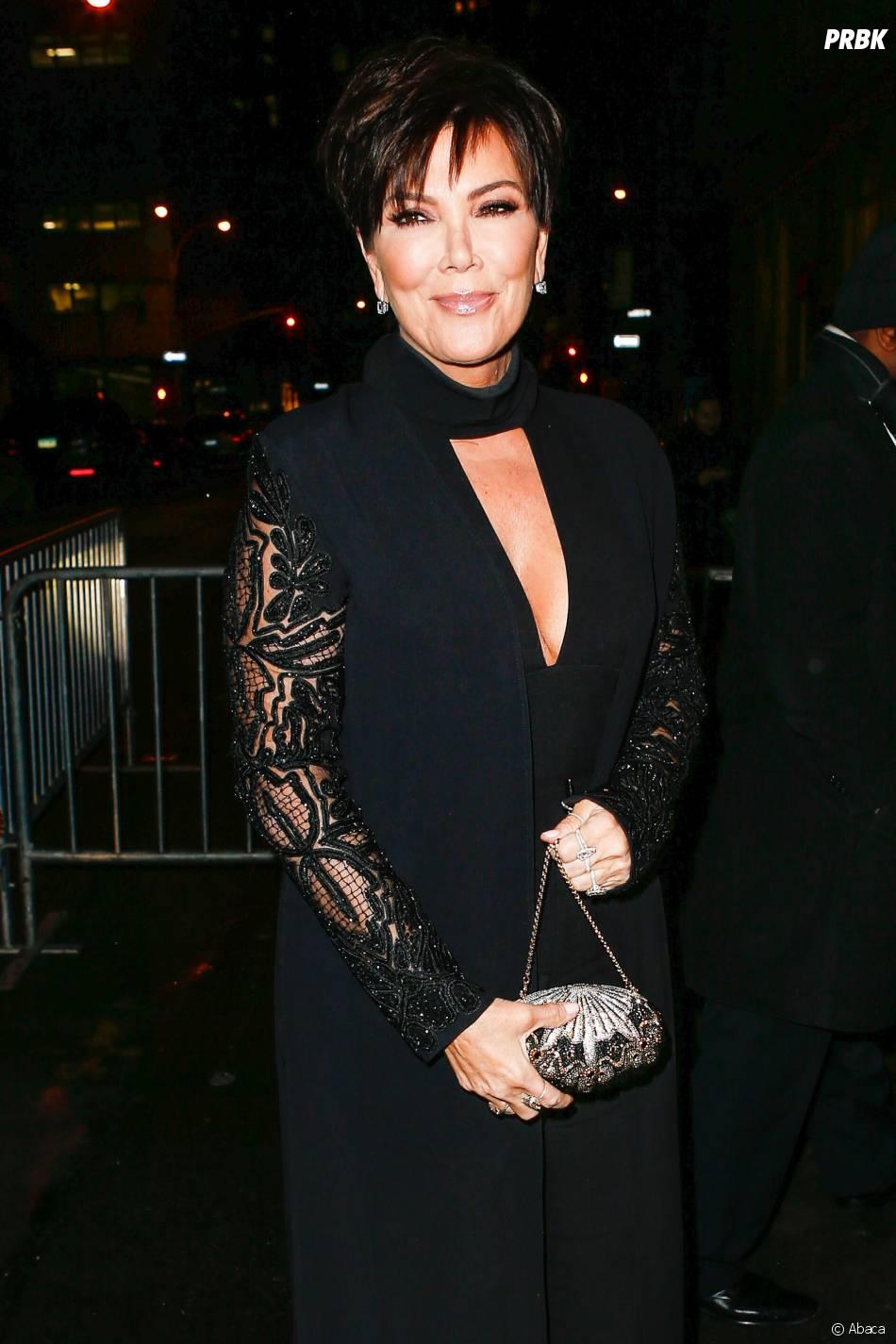 Kris Jenner à New York le 8 février 2016 pour présenter leur nouvelle collection de vêtements