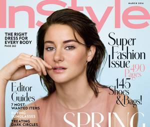 Shailene Woodley en Une du magazine InStyle