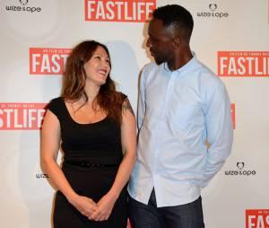 Thomas Ngijol et Karole Rocher en couple à l'avant-première du film Fastlife, le 15 juillet 2014 à Paris