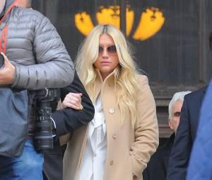 Kesha à la sortie de son procès contre Dr Luke, le 19 février 2016