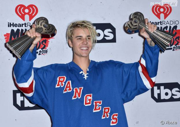 Justin Bieber aux iHeartRadio Music Awards 2016 le 3 avril à Los Angeles