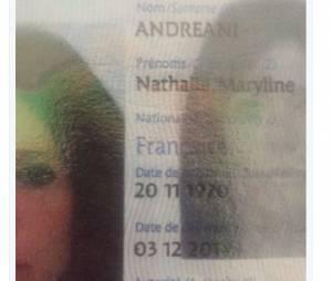 Nathalie publie la photo de son passeport pour démentir les rumeurs