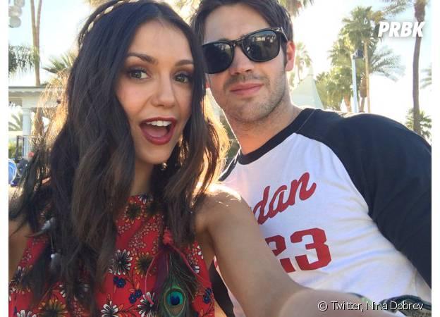 Nina Dobrev et Steven R. McQueen à Coachella en avril 2016