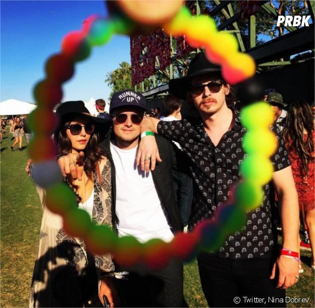 Nina Dobrev et Josh Hutcherson à Coachella en avril 2016