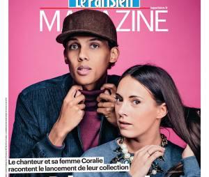 Stromae et sa femme Coralie en Une du Parisien Magazine