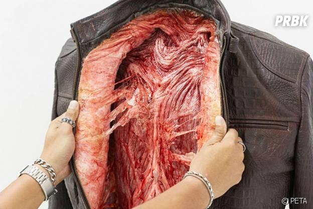 PETA en appelle au sang pour sa campagne contre le cuir