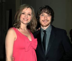 James McAvoy et Anne-Marie Duff en 2010, alors qu'elle était enceinte de leur enfant.