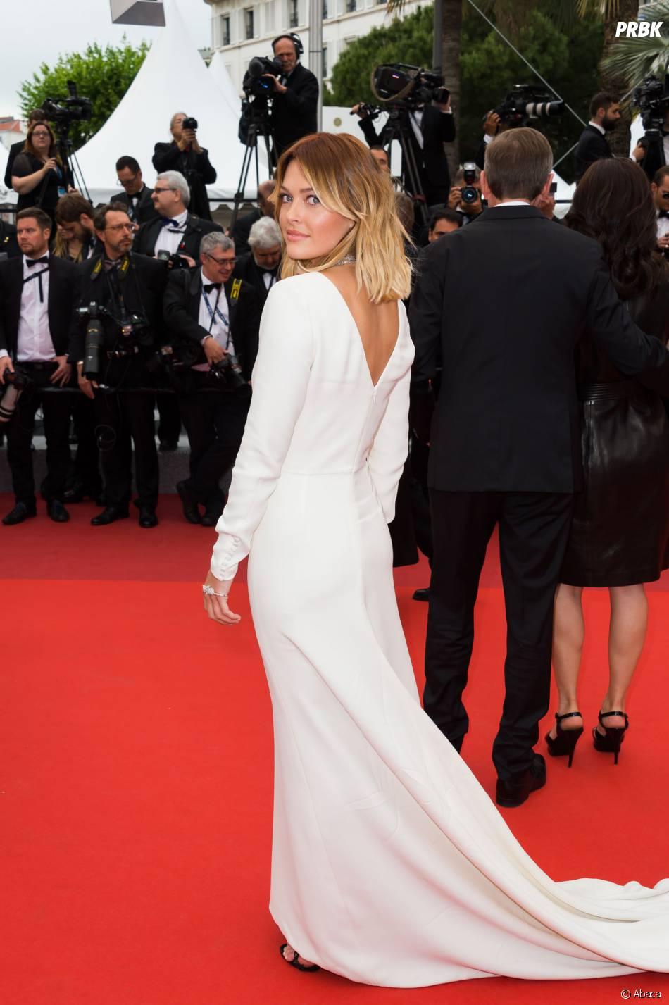 Caroline Receveur sur le tapis rouge du Festival de Cannes 2016 le 13 mai 2016