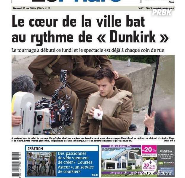 Découvrez la première photo de Harry Styles sur le tournage de Dunkirk