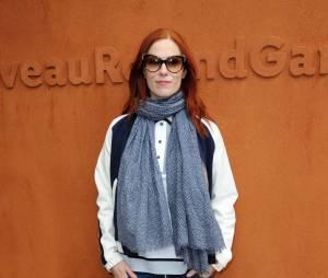 Audrey Fleurot à Roland Garros 2016 pour la finale dames le 4 juin 2016