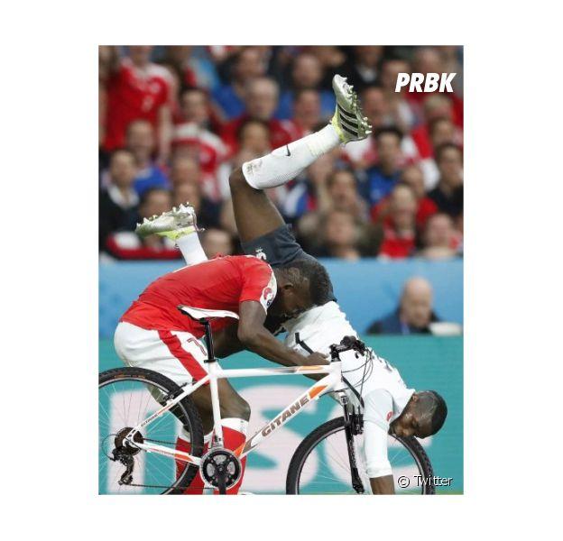 Paul Pogba : son acrobatie pendant le match Suisse-France détournée sur le web